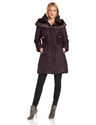 T Tahari Women's Nina 3/4 Down Coat with Faux Fur Convertible Collar