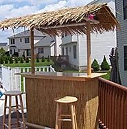 Portable Tiki Bar - Indoor or Outdoor Use - Put Together in 10 Minutes