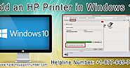 Steps to Add an HP Printer in Windows 10