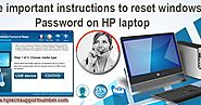 Five Important Instructions to Reset Windows Password on HP Laptop