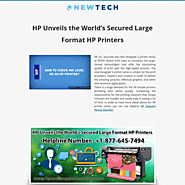 HP Unveils the World's Secured Large Format HP Printers