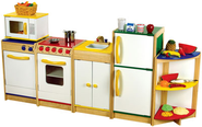 Stocking a Kids Kitchen Playset