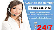 AOL mail-the most secure web portal! Call AOL help number if facing issues