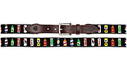 Beer Bottle Needlepoint Belt for Men and Women