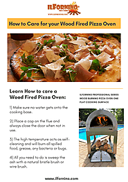 How to Care your Wood Fired Pizza Oven