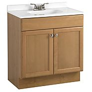 Single Basin Self Containd Sink – Wood Cabinet with Cultured Marble Countertop Model PSW-007M