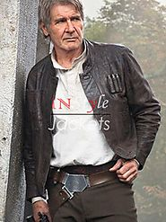 Harrison Ford Star Wars Force Awakens Han Solo Brown Jacket