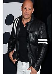 Vin Diesel The Fate Of The Furious Premiere Leather Jacket