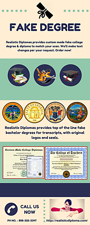 Fake Degree | Fake College Diploma
