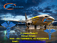 High Speed Air Ambulance Service in Along by Falcon Emergency