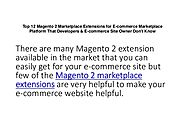 Top 12 Magento 2 Marketplace Extensions for E-commerce Marketplace Platform That Developers & E-commerce Site Owner D...