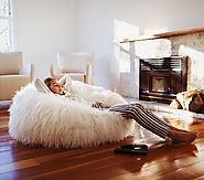 Snow White Faux Fur Luxury Bean Bag | Bean Bags R Us