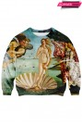 "ROMWE | ""The Birth of Venus"" Print Sweatshirt, The Latest Street Fashion"