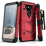 LG G6 Case, Zizo [Bolt Series] with FREE [LG G6 Screen Protector] Kickstand [Military Grade Drop Tested] Holster Belt...