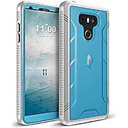 Poetic Revolution LG G6 Rugged Case With Hybrid Heavy Duty Protection and Built-In Screen Protector for LG G6 Blue/Gray