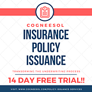 Insurance Policy Issuance Service Provider - Cogneesol