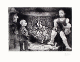 Picasso, son oeuvre, et son Public - Signed Picasso Etching - John Szoke