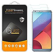 [3-Pack] LG G6 Tempered Glass Screen Protector, Supershieldz Anti-Scratch, Anti-Fingerprint, Bubble Free, Lifetime Re...