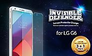 LG G6 Screen Protector, Invisible Defender [CLEARNESS][Case Compatible] Perfect Touch Precision High Definition (HD) ...
