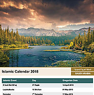 Islamic Calendar 2018 / Hijri Calendar 1439 for Free Download