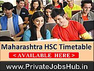 Maharashtra HSC Timetable 2018 General/Vocational MSBSHSE 12th Date Sheet
