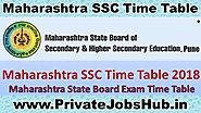 Maharashtra SSC Time Table 2018 10th Board Exam MSBSHSE March Date Sheet
