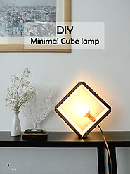 DIY wooden cube lamp