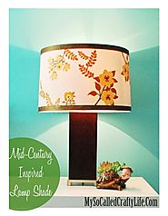 Mid Century Inspired Lampshade with Martha Stewart Crafts Decoupage Medium - My So Called Crafty Life