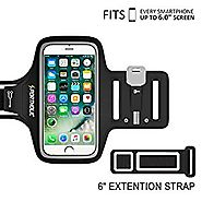 PORTHOLIC iPhone 7 Plus 6s Plus 6 Plus Workout Armband, Samsung Galaxy 6/7 Edge s8/s8 Plus, LG G5, Note 2/3/4/5 with ...