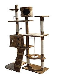 FoxHunter Deluxe Multi Level Cat Tree Activity Centre