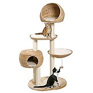 Hand Woven Banana Leaf Cat Tree