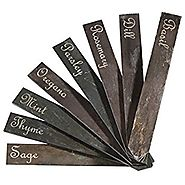 Etched Slate Garden Plant Markers