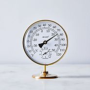 Brass Tabletop Weather Station