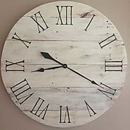 Handmade Wooden Farmhouse Clock