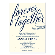 Gorgeous Invitations on Cream vintage Paper - Forever Together by ForeverFiances Weddings