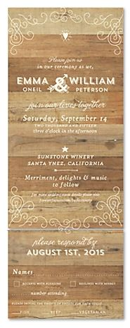 Send n Sealed Woodsy Wedding Invitations ~ Elegant Back Country by ForeverFiances Weddings on 100% Recycled Paper