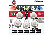 Hoover Multi-Color LED Accent Lights with Remote Control--5 Pack