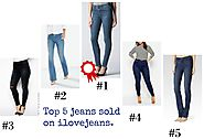 TOP 5 JEANS YOU ARE BUYING ON ILOVEJEANS.COM