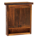 Fireside Lodge Barnwood Toilet Topper Cabinet