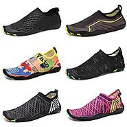 CIOR Men and Women's Barefoot Quick-Dry Water Sports Aqua Shoes with 14 Drainage Holes for Swim, Walking, Yoga, Lake,...