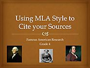 MLA powerpoint for 4th/5th Beginning Research