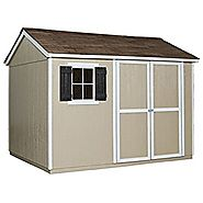 Handy Home Products Avondale Wooden Storage Shed with Floor, 10 by 8-Feet