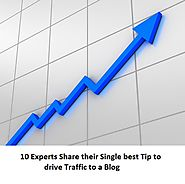 10 Blogging Experts share their Single best tip to drive traffic to a blog