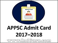 APPSC Admit Card