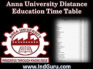 Check Anna University Distance Education Time Table 2017–18 Online Here