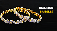 Diamond Gold Bangles for Indian Bridal, Wedding & Engagements – Select Latest Designs