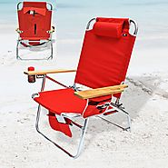 Big Jumbo Heavy Duty 500 lbs XL Aluminum Beach Chair for Big and Tall Person - Best Heavy Duty Stuff