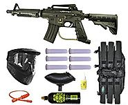 US ARMY Alpha Black Tactical Tippmann Paintball Mega Gun Set