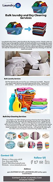 Website at https://www.slideshare.net/laundryd/bulk-laundry-and-dry-cleaning-services