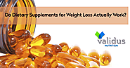 Do Dietary Supplements for Weight Loss Actually Work?